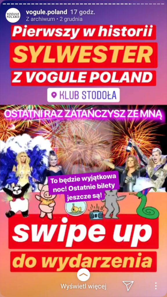 screen z instastory vogule poland