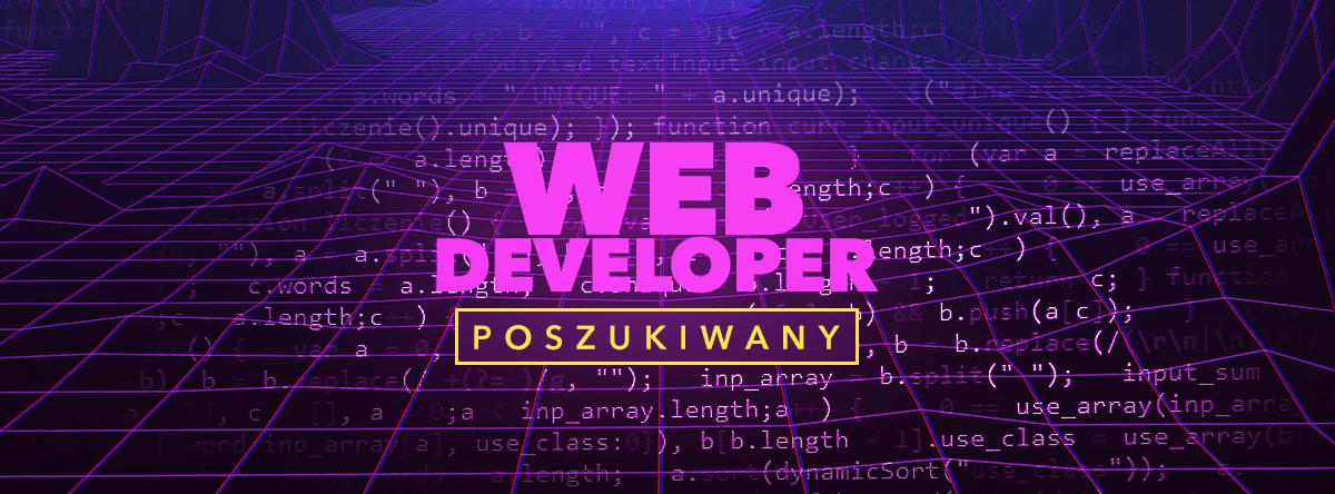 web developer ogłoszenie