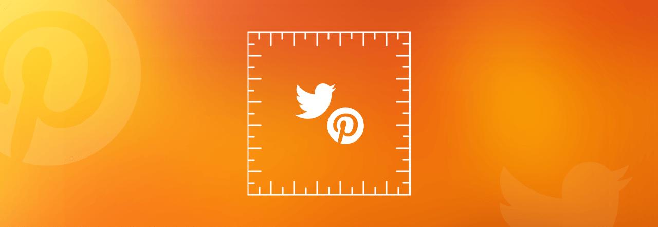 logo twitter i pinterest