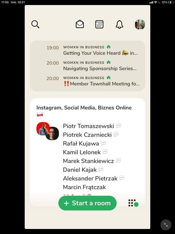Clubhouse aplikacja