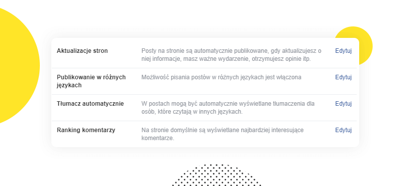 Ustawienia różnych języków publikacji postów naFacebooku
