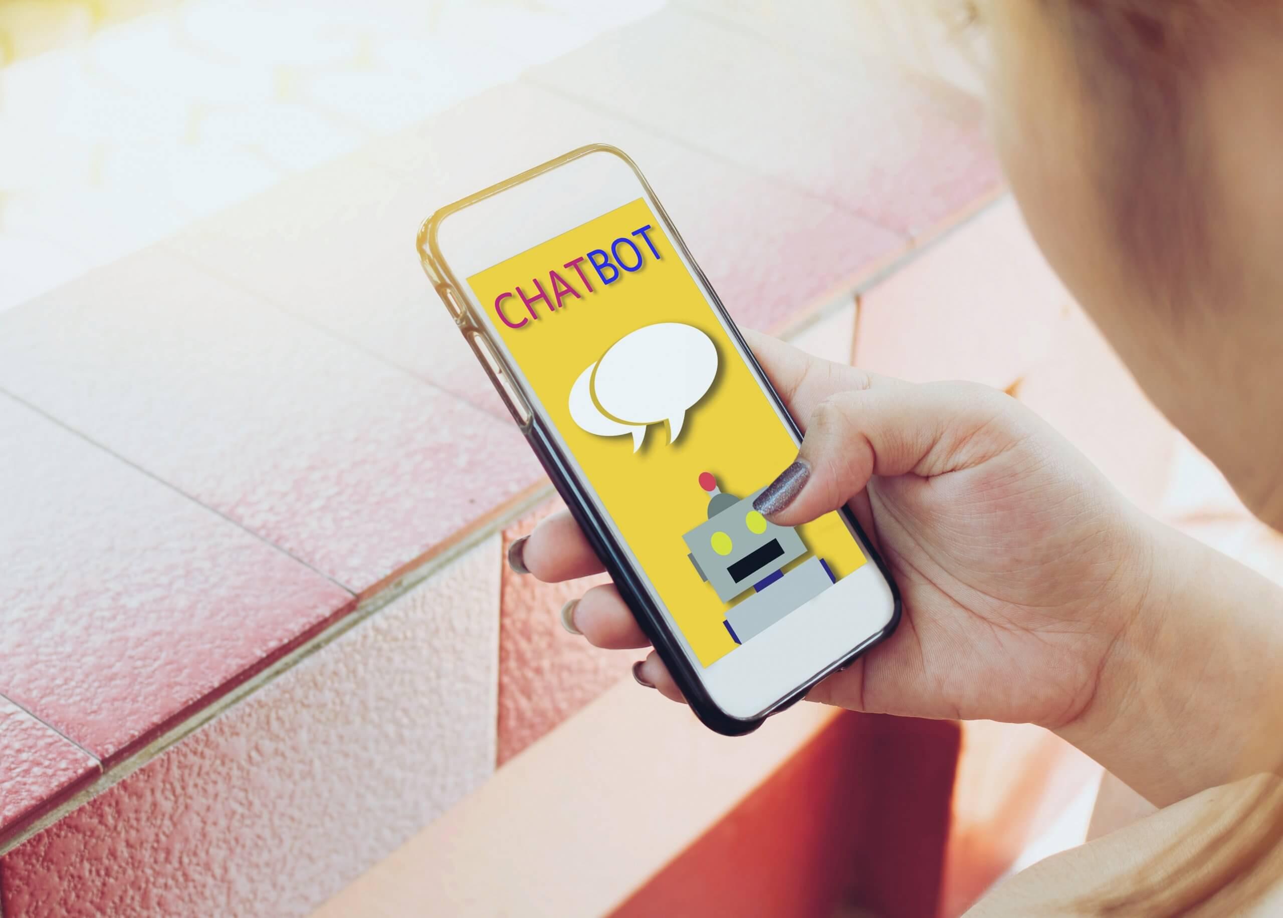 chatbot na smartfonie