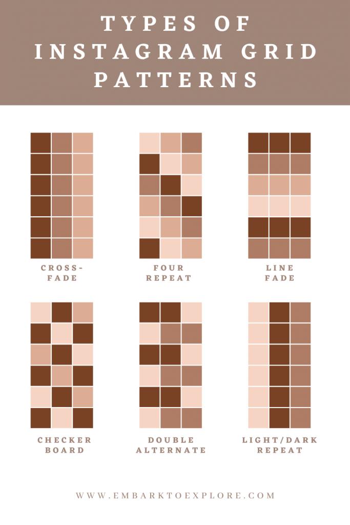 Jak prowadzić instagrama: typy wzorów siatek