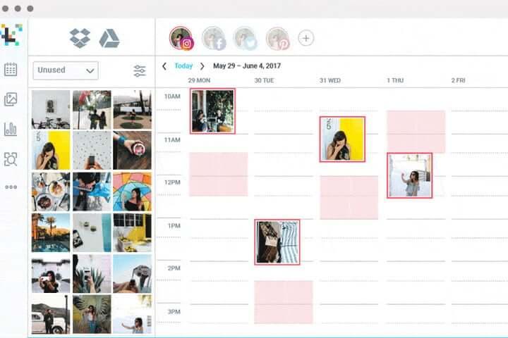 Planowanie postów naInstagramie Aplikacja Later zrzut ekranu