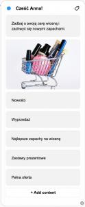 screen bota przedstawianie produktów