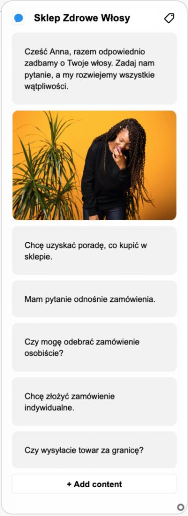 screen bota odpowiadanie napytania iwiadomości
